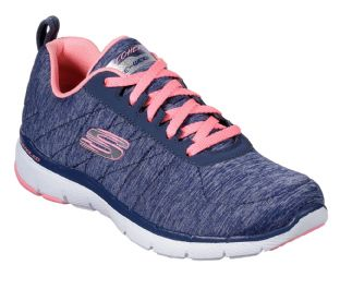 Skechers Womens 13067 NVCL Navy Coral Flex Appeal 3.0 Insiders Trainers